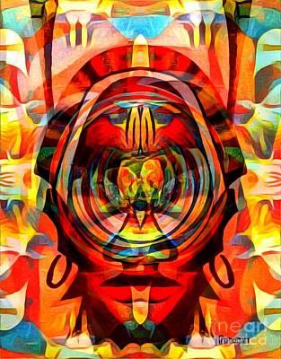 Mixed Media Royalty Free Images - Chief Ebo Royalty-Free Image by Fania Simon