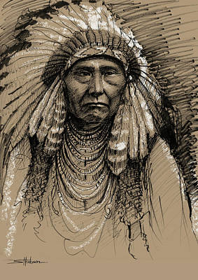 Antlers - Chief Joseph the Younger by Steve Henderson