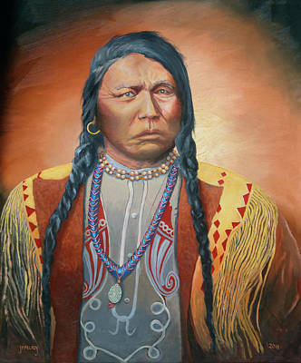 Western Art - Chief Ouray by Jerry McElroy