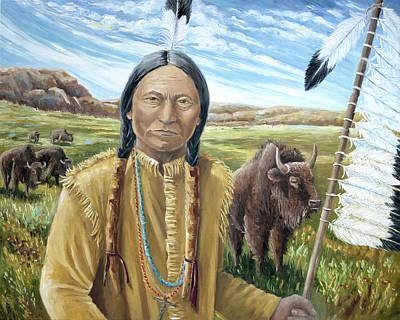 Painting - Chief Sitting Bull by Paula McHugh