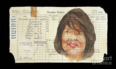 Painting - Chief Wilma Mankiller by John Guthrie
