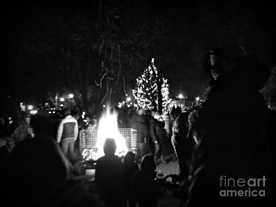 Frank J Casella Royalty-Free and Rights-Managed Images - Children and Bonfires by Frank J Casella