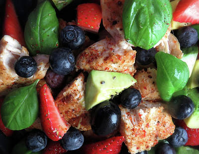 Hollywood Style - Chili Chicken With Berries And Avocado by Johanna Hurmerinta