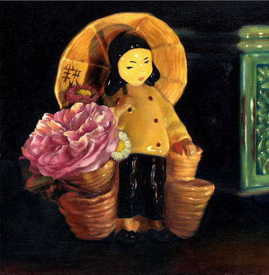 Painting - China Doll by Melanie Stimmell Van Latum