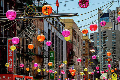 Truck Art Rights Managed Images - Chinatown NYC and Lanterns Royalty-Free Image by Robert Ullmann
