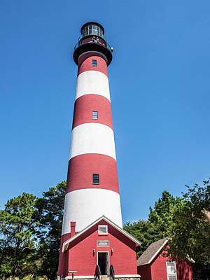 Photograph - Chincoteague Island  Light House by Louis Dallara