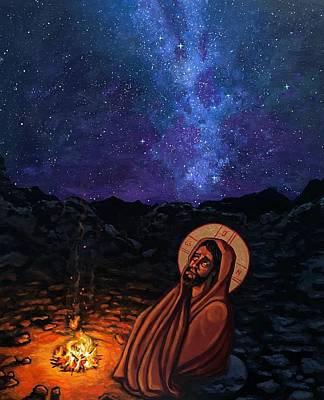 Painting - Christ in the Wilderness by Kelly Latimore