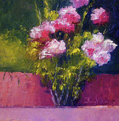 Painting - Christine's Pink Roses by Terry Chacon