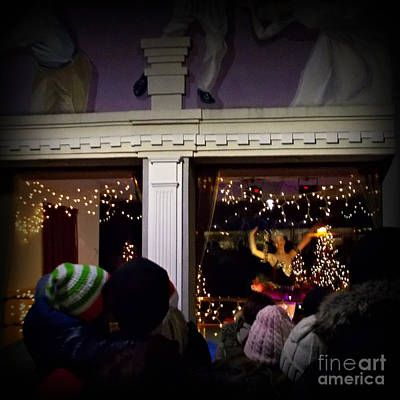 Frank J Casella Royalty-Free and Rights-Managed Images - Christmas Balerinas from the Windows by Frank J Casella