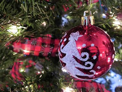 Photograph - Christmas ball by Jennifer Wheatley Wolf