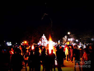 Frank J Casella Royalty-Free and Rights-Managed Images - Christmas Bonfire by Frank J Casella