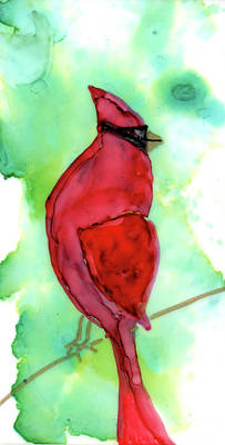 Painting - Christmas Cardinal by Mary Benke
