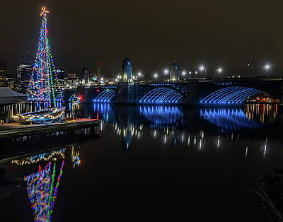 Target Threshold Nature Royalty Free Images - Christmas on the Charles 01 Royalty-Free Image by Jeff Stallard