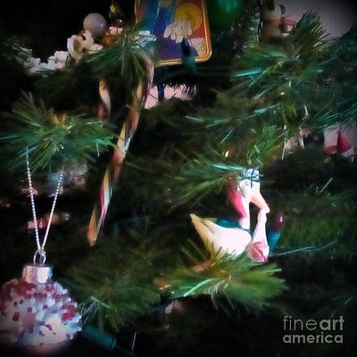 Frank J Casella Royalty-Free and Rights-Managed Images - Christmas Ornaments Square by Frank J Casella