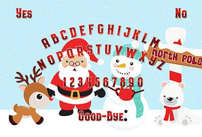 Digital Art - Christmas Spiritboard by Ruth Moratz