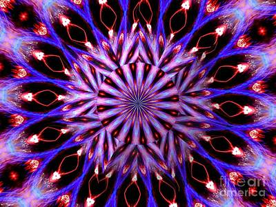 Just Desserts - Christmas Tree Lights Kaleidoscope Mandala Under Glass Abstract by Rose Santuci-Sofranko