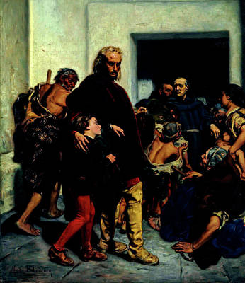 Rolling Stone Magazine Covers - Christopher Columbus at the Monastery of Rabida by Artistic Rifki