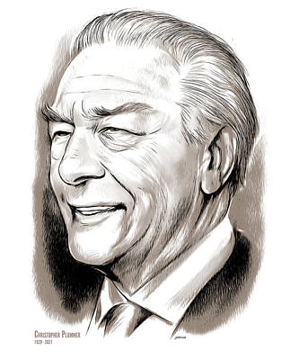 Drawings Royalty Free Images - Christopher Plummer - Line Art Royalty-Free Image by Greg Joens