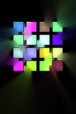 Digital Art Rights Managed Images - Chromatic Cubes 1 Royalty-Free Image by Scott Norris