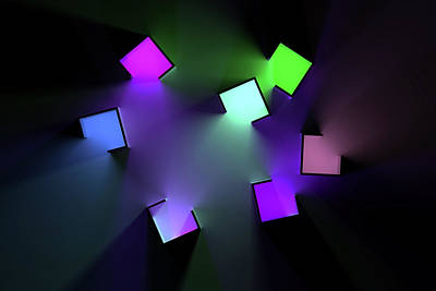 Digital Art Rights Managed Images - Chromatic Cubes 3 Royalty-Free Image by Scott Norris