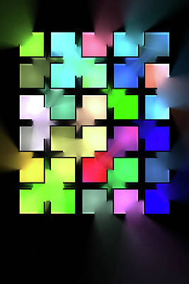 Digital Art Rights Managed Images - Chromatic Cubes 5 Royalty-Free Image by Scott Norris