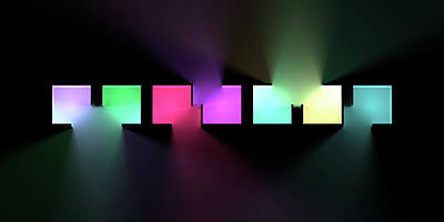 Digital Art Rights Managed Images - Chromatic Cubes 6 Royalty-Free Image by Scott Norris