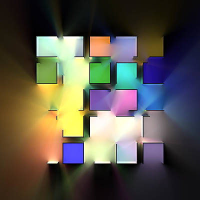 Digital Art Rights Managed Images - Chromatic Cubes 8 Royalty-Free Image by Scott Norris