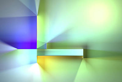 Digital Art Rights Managed Images - Chromatic Geometry 35 Royalty-Free Image by Scott Norris