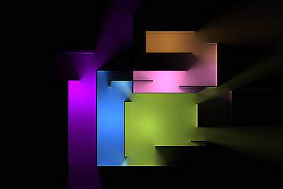 Digital Art Rights Managed Images - Chromatic Geometry 4 Royalty-Free Image by Scott Norris