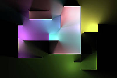 Digital Art Rights Managed Images - Chromatic Geometry 5 Royalty-Free Image by Scott Norris
