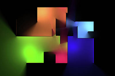 Digital Art Rights Managed Images - Chromatic Geometry 6 Royalty-Free Image by Scott Norris