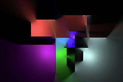 Digital Art Rights Managed Images - Chromatic Geometry 7 Royalty-Free Image by Scott Norris