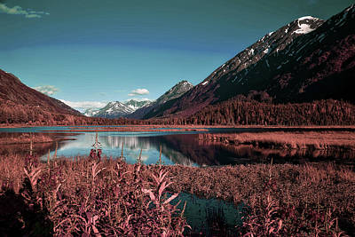 Surrealism Royalty Free Images - Chugach National Forest Alaska - Surreal Art by Ahmet Asar Royalty-Free Image by Celestial Images