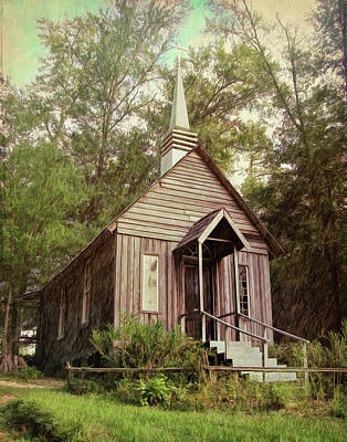 Digital Art - Church at Bookers Mill by Debbie Smith