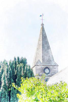 Mixed Media - Church Clock by Starsphinx