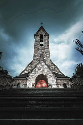 Surrealism Royalty-Free and Rights-Managed Images - Church in Paris - Surreal Art by Ahmet Asar by Celestial Images