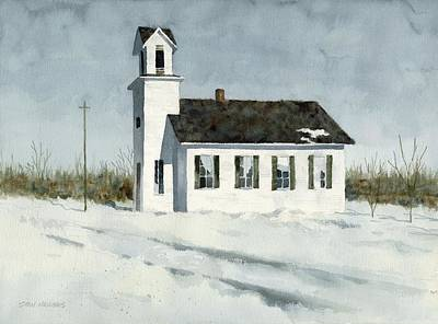 Painting - Church in the Snow by Stan Masters