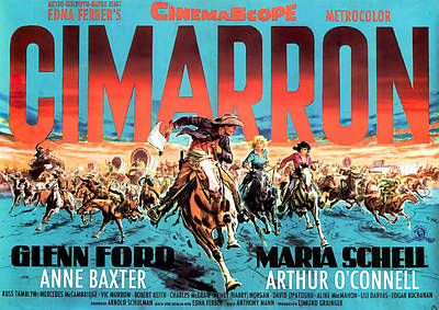 Royalty-Free and Rights-Managed Images - Cimarron, with Glenn Ford and Maria Schell, 1960 by Stars on Art