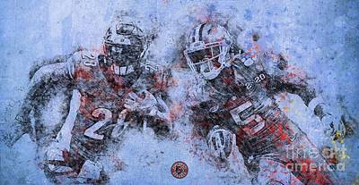 Royalty-Free and Rights-Managed Images - Cincinnati Bengals,American Football Team,NFL,Football Player by Drawspots Illustrations