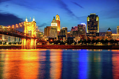 Royalty-Free and Rights-Managed Images - Cincinnati Ohio Under Skies of Dusk by Gregory Ballos