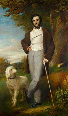 Pittsburgh According To Ron Magnes - CIRCLE OF SIR FRANCIS GRANT RA British 1803 1878 Portrait of a gentleman standing in parkland with h by Artistic Rifki