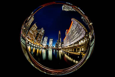 Grateful Dead - Circular Fisheye look down the Chicago River by Sven Brogren