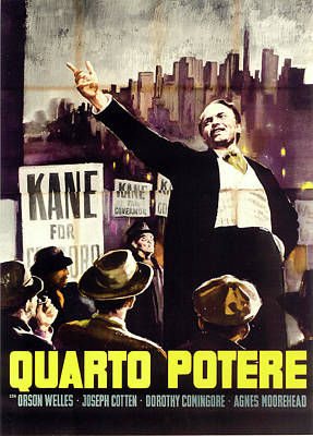 Mixed Media Royalty Free Images - Citizen Kane movie poster 1941 Royalty-Free Image by Stars on Art