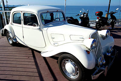 Royalty-Free and Rights-Managed Images - Citroen Traction Avant, Promenade des Anglais, Nice, France. by Joe Vella