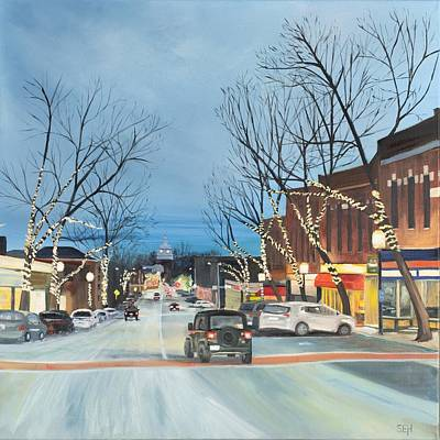 Painting - City Lights by Susan E Hanna