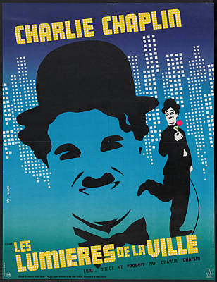 Royalty-Free and Rights-Managed Images - City Lights, with Charlie Chaplin, 1931-3 by Stars on Art