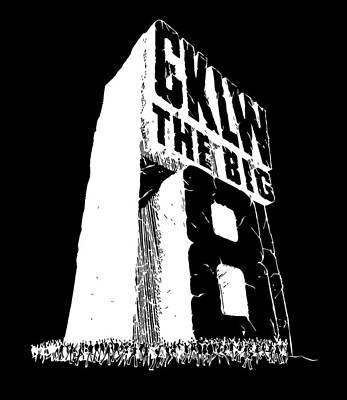 Digital Art - CKLW White Logo by Big8Radio
