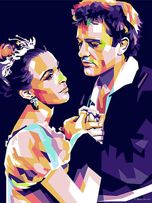 Mixed Media Royalty Free Images - Claire Bloom and Richard Burton - Hamlet Royalty-Free Image by Stars on Art