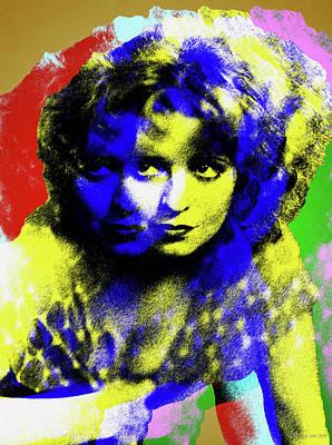 Digital Art - Clara Bow by Stars on Art
