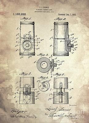 Whats Your Sign - CLARINET TUNING SEE Patent Year 1915 by Drawspots Illustrations